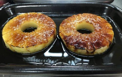 Dessert im Beefer - Flambierte Ananans