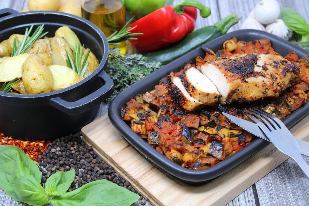Maishähnchenbrust | Beefer-Ratatouille | Kräuter-Kartoffeln